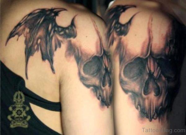 Grey Skull Tattoo Design