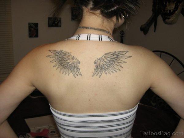 Grey Wings Tattoo Design