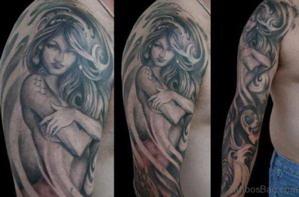 Grey Woman Tattoo