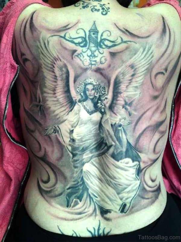 Guardian Tattoo On Back