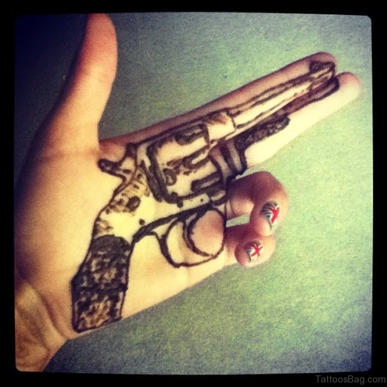 28 funky gun tattoos on