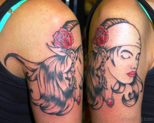 Gypsy Girl Tattoo On Shoulder