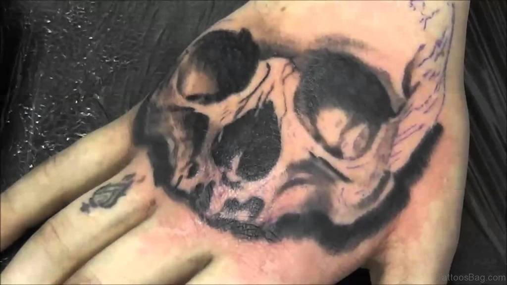 80 best skull tattoos on hand. Black Bedroom Furniture Sets. Home Design Ideas