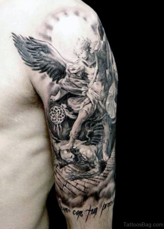Angel Tattoo On Shoulder