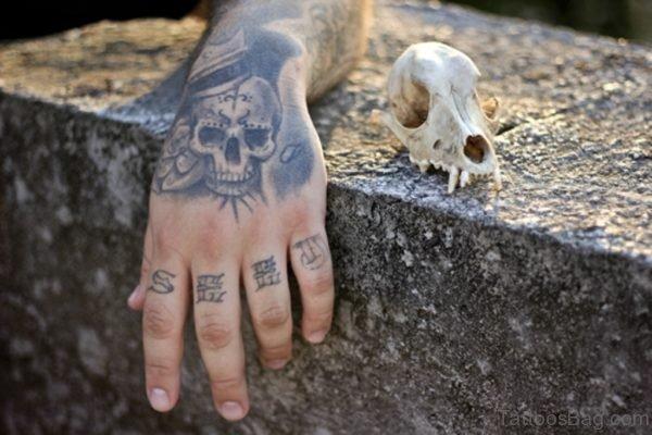 Hand Skull Tattoo Design Image