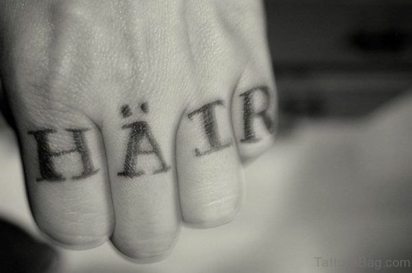 have Hope Word Tattoo On knuckle