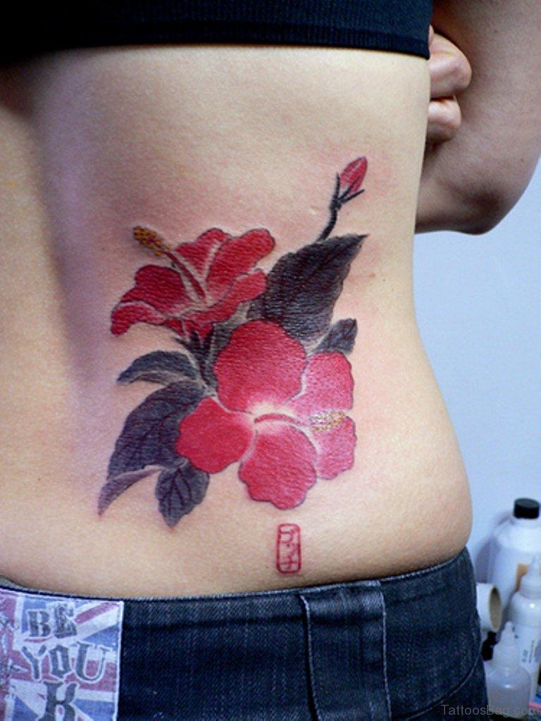 56 stylish flowers tattoos for waist hawaiian flower tattoo on waist izmirmasajfo