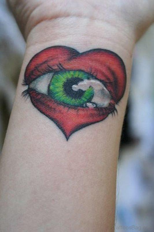 Heart And Eye Tattoo