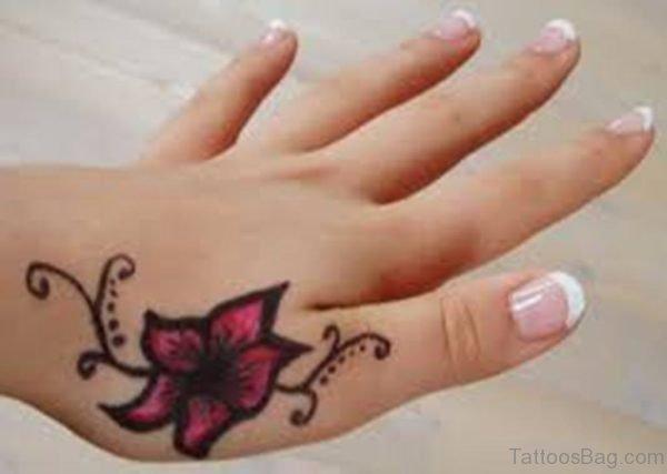 Heart And Flower Tattoo Designs Hand