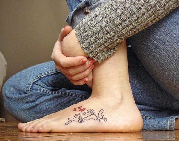 Heart Shape Butterfly Tattoo