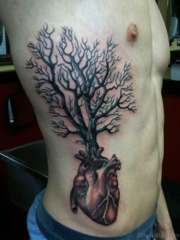 Heart Tree Tattoo