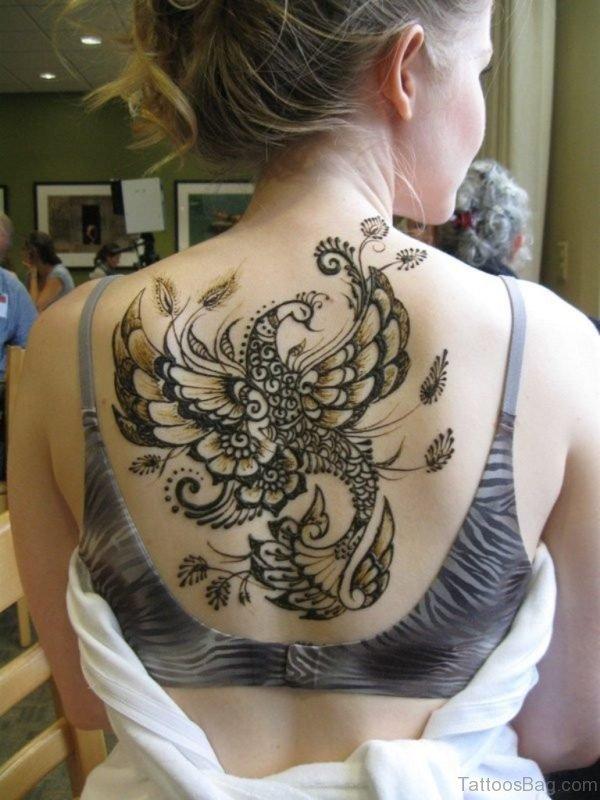 Henna Bird Tattoo