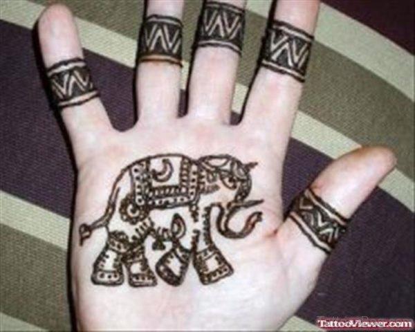 Henna Elephant Designer Tattoo