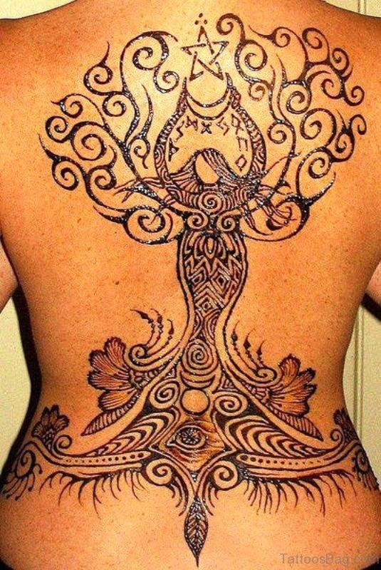 Henna Tattoo On Back