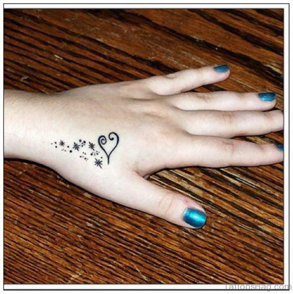 Herat And Star Tattoo