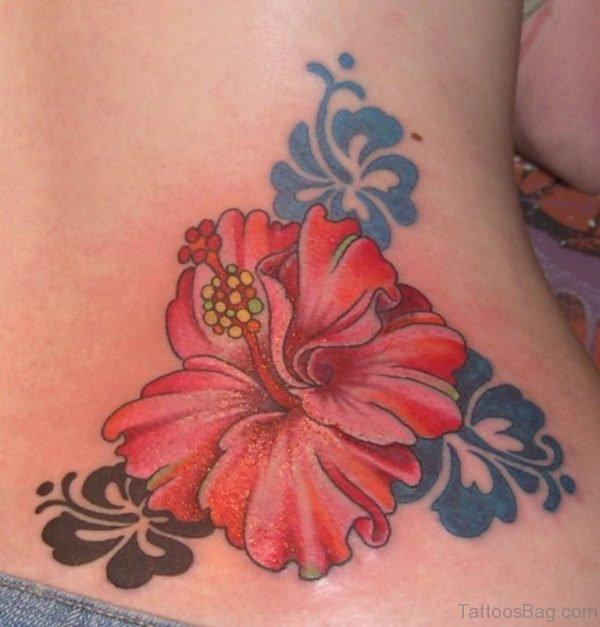 Hibiscus Flower Tattoos On Waist