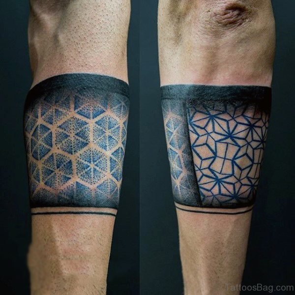 Honeycomb Band Tattoo On Arm