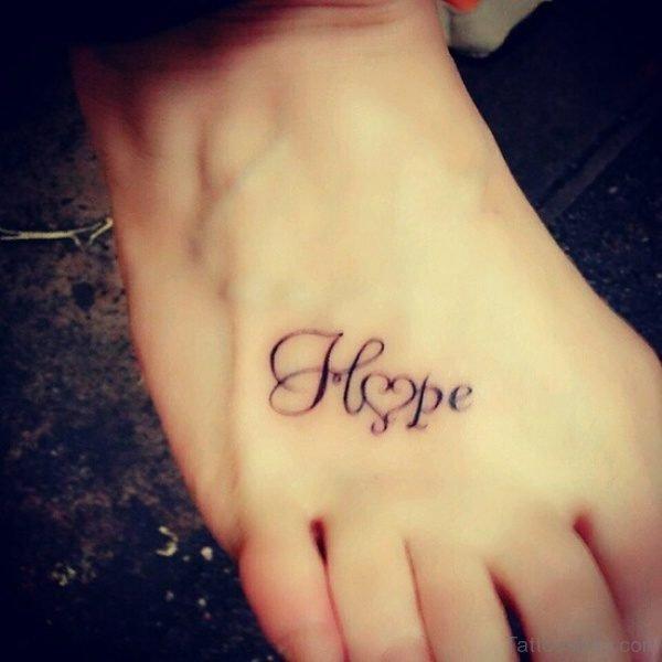 Hope Heart Tattoo Design