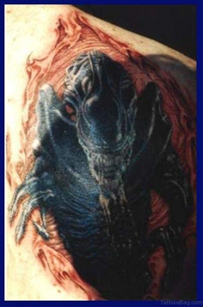 58 Fantastic Alien Tattoos On Back