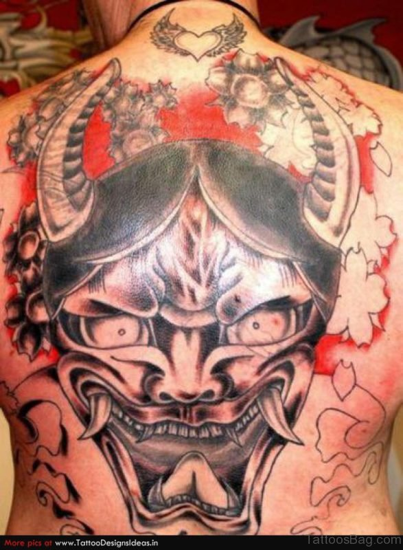 Horrible Asian Tattoo Design On Back Body