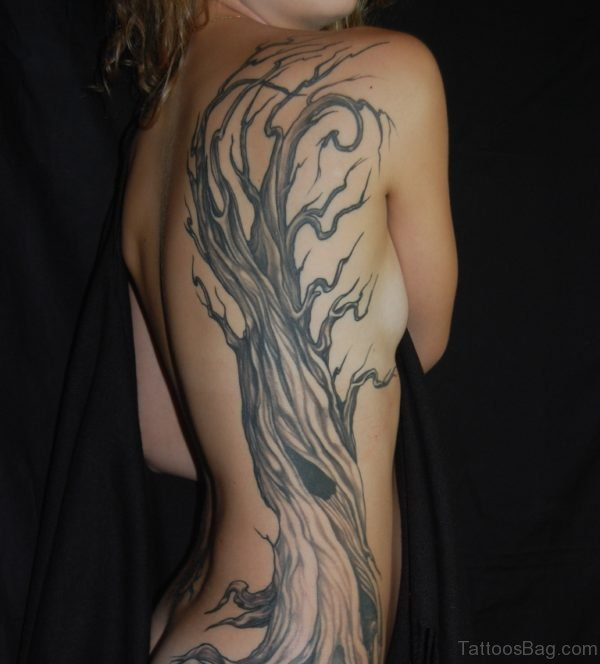 Hot Tree Tattoo