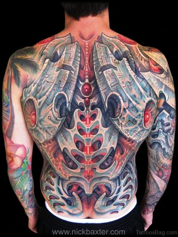 Huge Skeleton Tattoo On Back