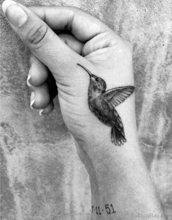 Hummingbird Tattoo Design ON Hand