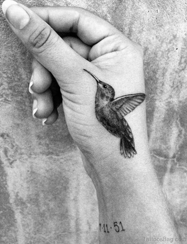 Hummingbird Tattoo On Hand