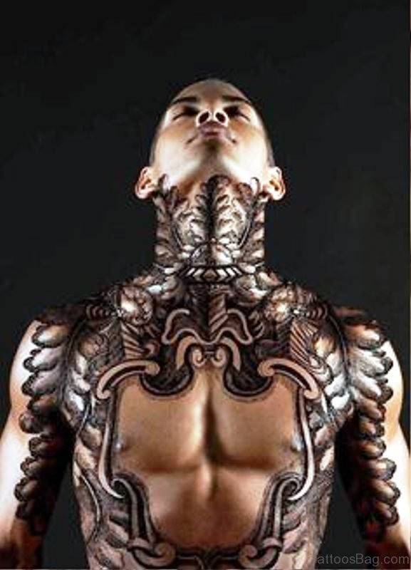 Image Of Black Tattoo On Chest