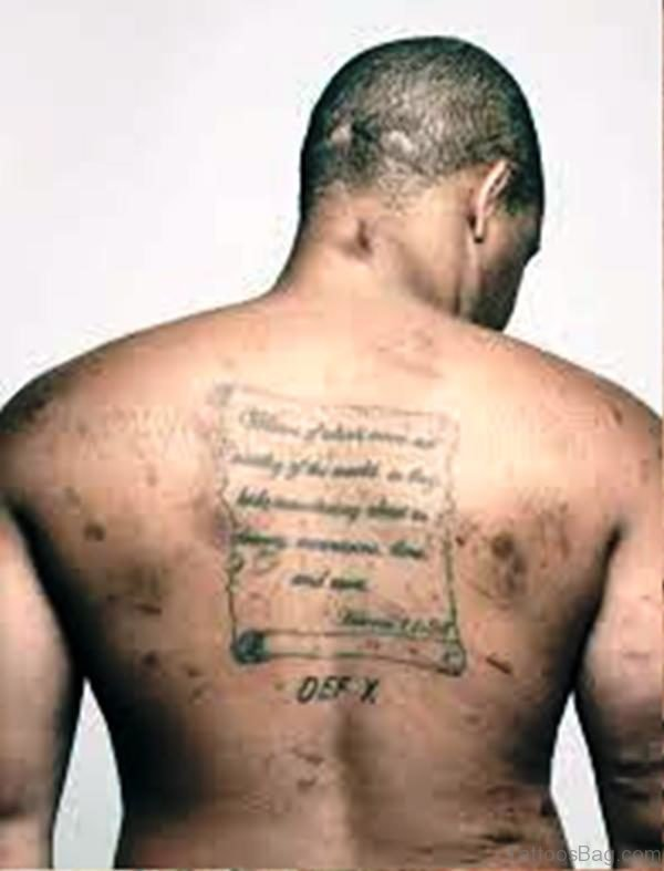 Image Of Scroll Tattoo On Back