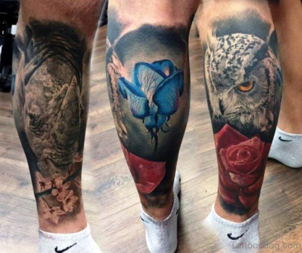 Image Of Tattoos On Calfs