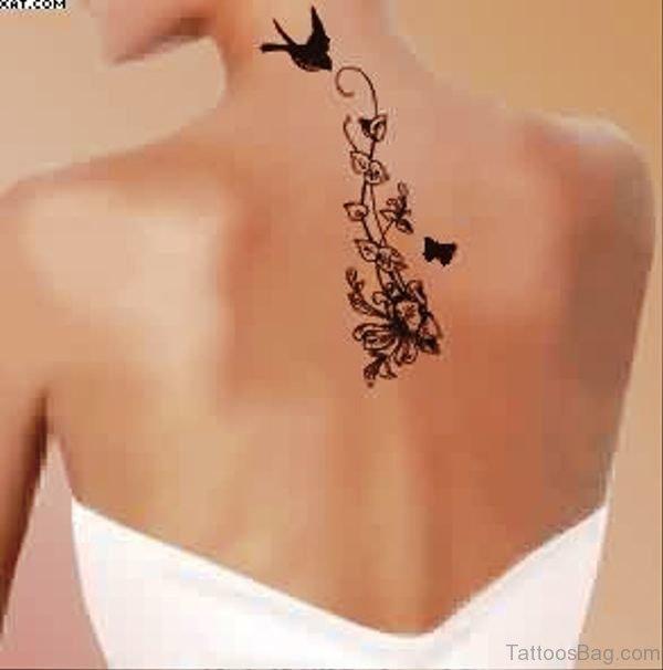 Image Of Vine Tattoo On Back