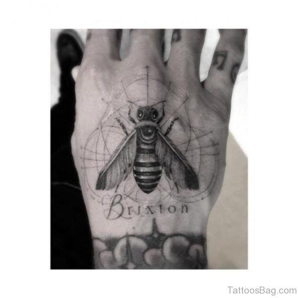 Impressive Bee Tattoo