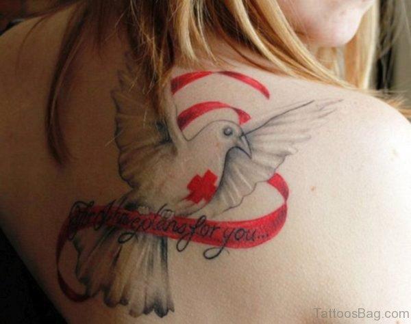 Impressive Dove Tattoo On Back