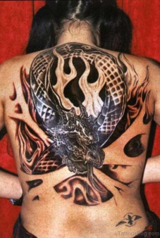Impressive Dragon Tattoo