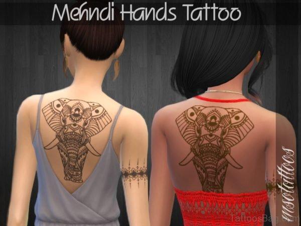 Impressive Elephant Tattoo On Back