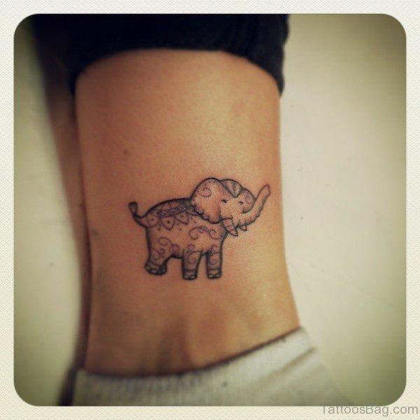 Impressive Elephnat Tattoo On Ankle
