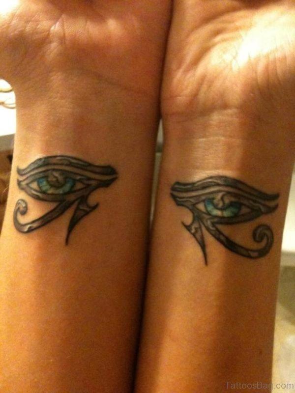 Impressive Eye Tattoo On Wrist