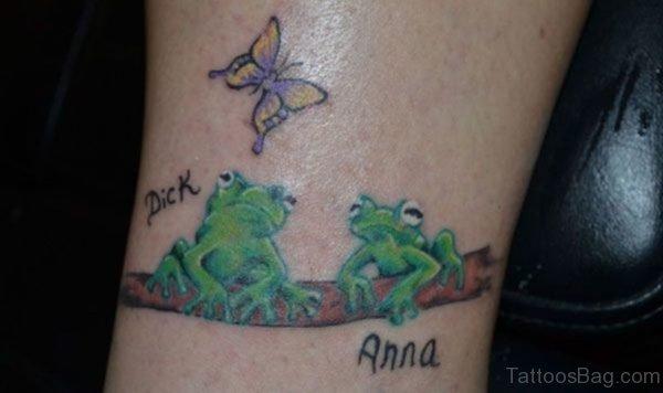Impressive Frog Wrist Tattoo