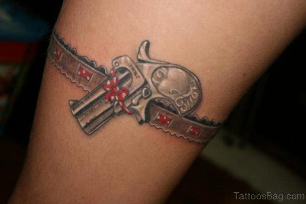 Impressive Gun Tattoo