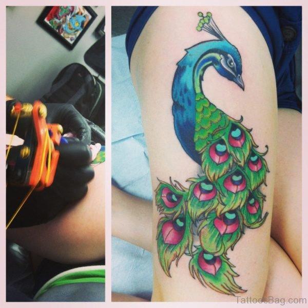 Impressive Peacock Tattoo Design