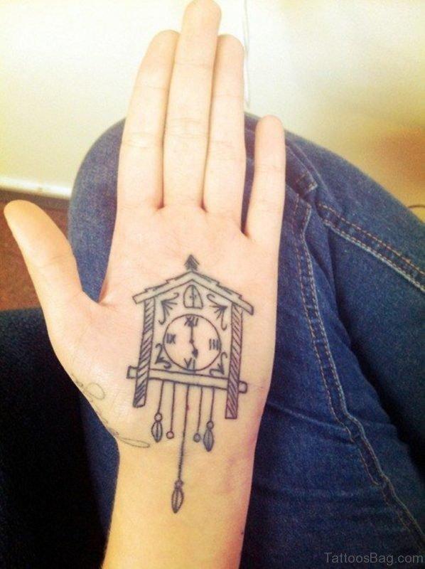 Impressive Pocket Watch Wrist Tattoo