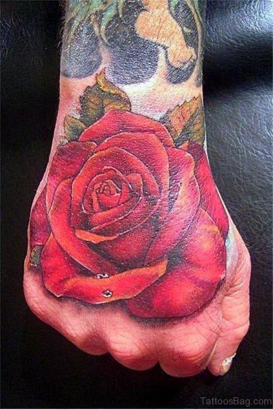 Impressive Rose Tattoo