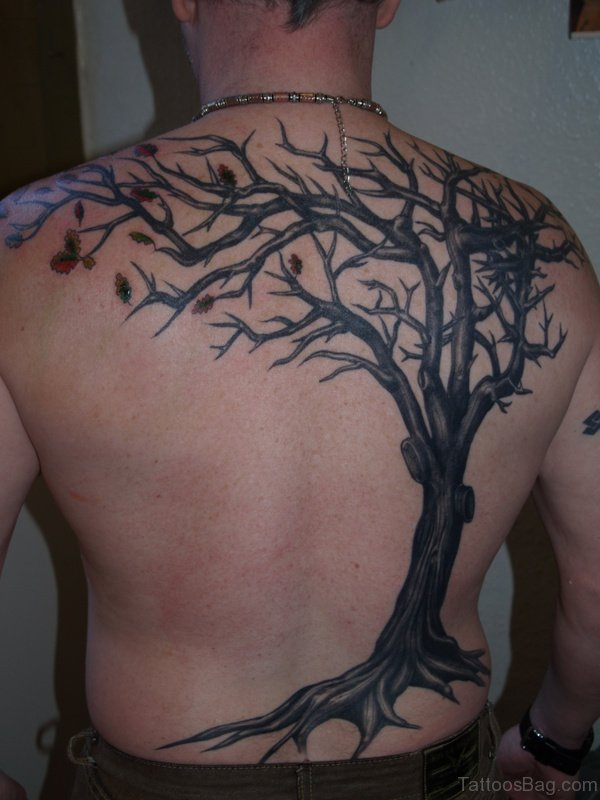 Impressive Tree TAttoo On Back