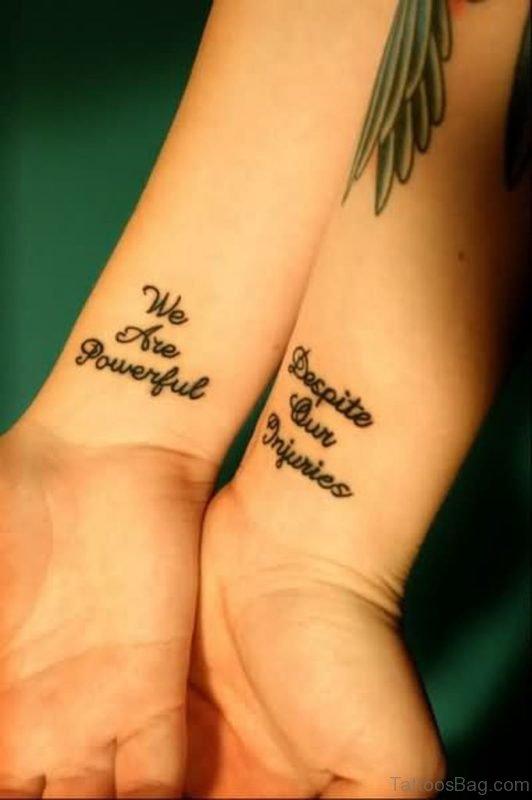 Impressive Wording Tattoo On Wrist