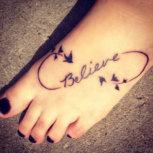 Infinity Foot Tattoos For Girls