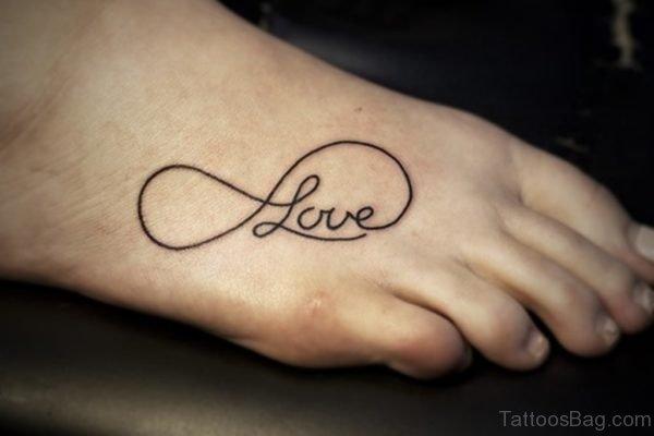 Infinity Love Foot Tattoo