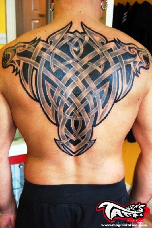 Irish Celtic Tattoo On Back