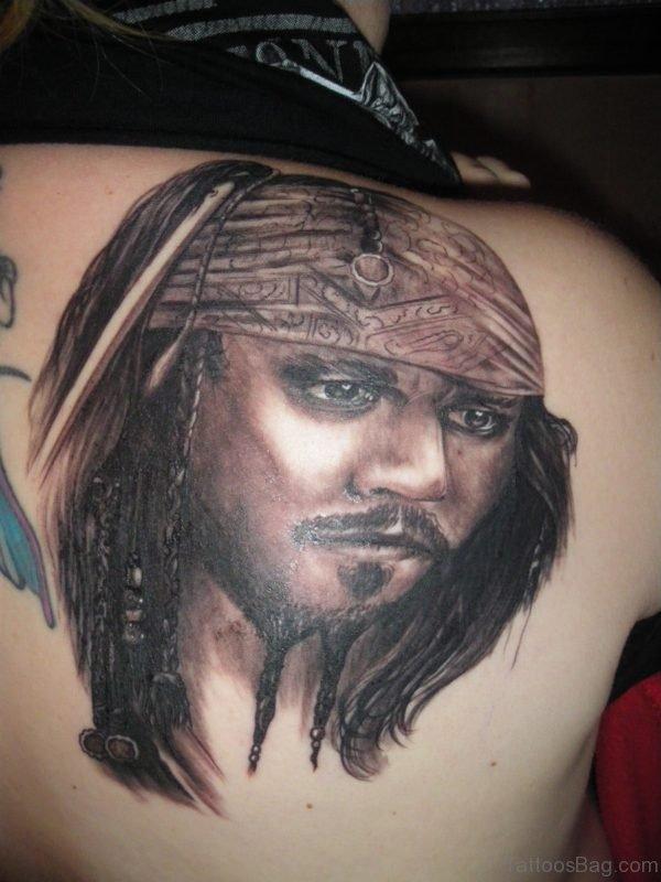 JACK SPARROW Tattoo On Back