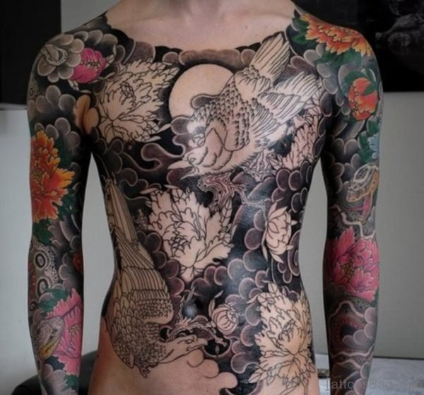 Japanese Chest Tattoo